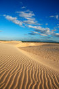 Sand dune of cumbuco ripples in ceara state brazil Stock Photos