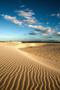 Sand dune of cumbuco ripples near fortaleza in ceara state brazil Royalty Free Stock Images