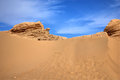 Sand dune in the desert Royalty Free Stock Image