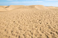 Sand dune desert texture in gran canaria island spain Royalty Free Stock Photo