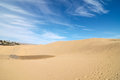 Sand dune desert texture in gran canaria island spain Royalty Free Stock Photos