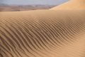 Sand dune desert wind made patterns Stock Photography