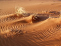 Sand dune details patterns in the wind blown Royalty Free Stock Photos