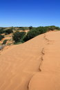 Sand dune in southern botswana the top of a near bokspits Stock Photos