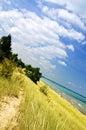Sand dunes at beach Stock Photos