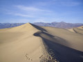 Sand dunes of death valley in winter Stock Images