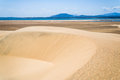 Sand dunes and lake near the anony southern madagascar Royalty Free Stock Photography
