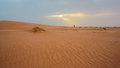 Sand dunes in mauritania sunset the desert on Royalty Free Stock Photography