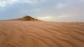 Sand dunes in mauritania sunset the desert on Royalty Free Stock Images