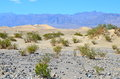 Sand Dunes And Mountains At Death Valley National Park, California Royalty Free Stock Photo