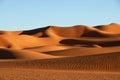 Sand dunes in Sahara desert, Libya Royalty Free Stock Photo