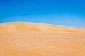 Sand dunes of Sahara desert near Ong Jemel in Tozeur,Tunisia. Royalty Free Stock Photo