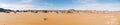 Sand dunes in Sahara desert panorama, Libya Royalty Free Stock Photo