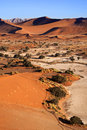 Sand dunes sossusvlie namibia at in the namib nuakluft desert in Royalty Free Stock Photography