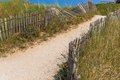 Sand footpath through dunes Royalty Free Stock Photo
