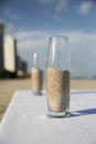 Sand in glass vase Royalty Free Stock Photos