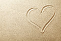 Sand Heart Royalty Free Stock Photo