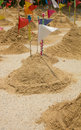 Sand mountain in tample thai culutre when buddha day Royalty Free Stock Image