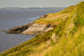 Sand Point near Weston-super-Mare Royalty Free Stock Images