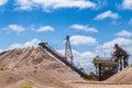 Sand quarry Royalty Free Stock Photo