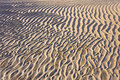 Sand ripple patterns and texture Royalty Free Stock Photo