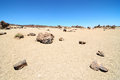 Sand and rocks desert on teide volcano in canary islands spain Stock Photo