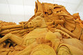 Sand sculpture of knight Stock Images