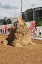 Sand sculpture william hazlitt at festival white nights perm june on june in perm russia Royalty Free Stock Photo