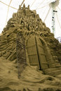 Sand Sculptures - the city of Dis Royalty Free Stock Photo