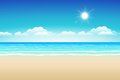 Sand sea sky seascape illustration paradise beach Stock Photo