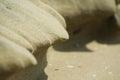 Sand shape natural abstract on mediteranian sea beach Stock Photo