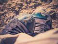 Sand on shoes Royalty Free Stock Photo