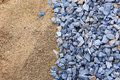 Sand and stone for construction work a Stock Photo