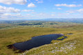 Sand tarn from wild boar fell cumbria view northwest the slopes of in looking towards ravenstonedale with the eden valley and Stock Images