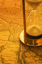 Sand Timer and Map Burma Royalty Free Stock Photo