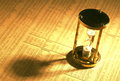 Sand timer on stock index Royalty Free Stock Photo