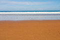 Sand water and sky la griega beach pic in colunga small town of the province of asturias spain Royalty Free Stock Image