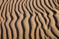 Sand waves pattern Royalty Free Stock Photo