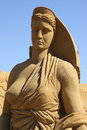 Sand woman intl sand sculpture festival denmark Royalty Free Stock Photography