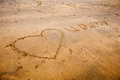Sand writing i love u daddy in in the on the beach Royalty Free Stock Image