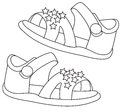 Sandals coloring page