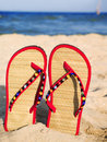 Sandals In The Sand Royalty Free Stock Photo