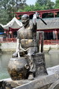 Sandaoyan, China: Bronze Dragon Boat Drummer Royalty Free Stock Photo
