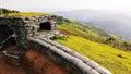 Sandbag bunker border war on the range Stock Images