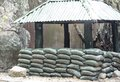 Sandbag bunker of the royal thai military Stock Photo