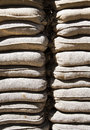 Sandbag wall a of sandbags protecting checkpoint charlie in berlin Royalty Free Stock Photography