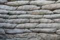 Sandbags for flood protection Royalty Free Stock Photo
