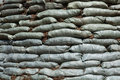 Sandbags for flood protection Stock Images