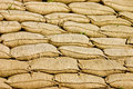 Sandbags a pile or wall of Royalty Free Stock Image
