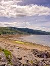 Sandbank fishing village scotland uk Royalty Free Stock Images